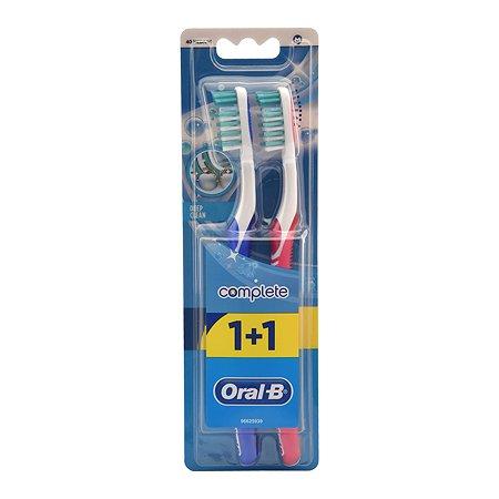 Зубная щетка Oral-B +1шт Комплексная чистка 40 Сред.H156