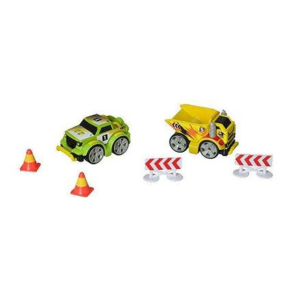Набор HTI (Roadsterz) Мега Грузовики (2 машинки, дорожные знаки)