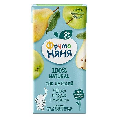 Сок ФрутоНяня из яблок и груш 0,2 л с 5 месяцев