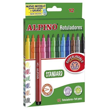 Фломастеры ALPINO STANDARD 12 цв.