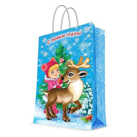 Пакет бумажный Magic Time Девочка и олененок