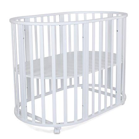 Кровать Babyton круглая с универсальным маятником Белый 108401