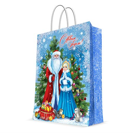 Пакет бумажный Magic Time Дед Мороз и Снегурка