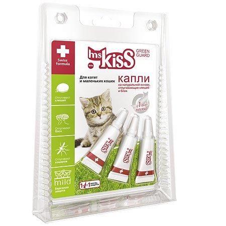 Капли для котят и кошек Ms.Kiss маленьких пород репеллентные 1мл 56308