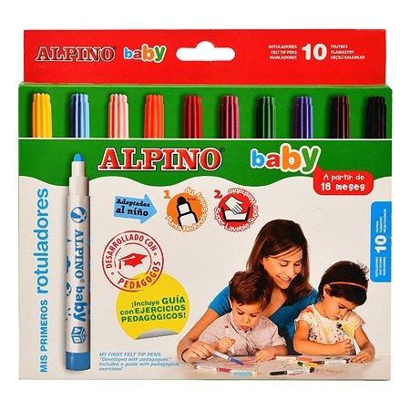 Фломастеры ALPINO baby 10цветов AR000056