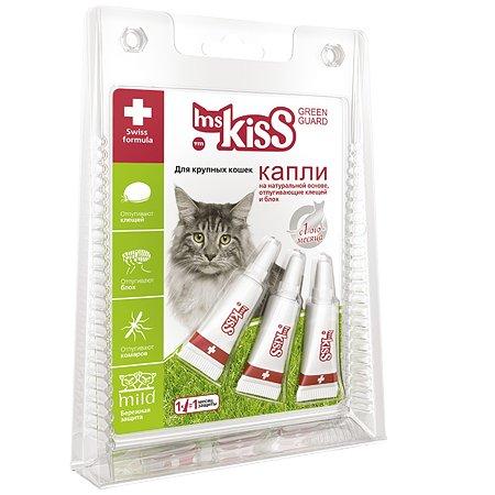 Капли для кошек Ms.Kiss крупных пород репеллентные 2.5мл 56309