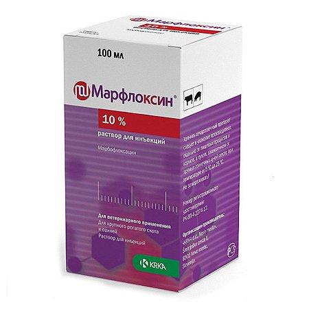 Антибиотик для собак и кошек KRKA Марфлоксин 10% 100мл инекция