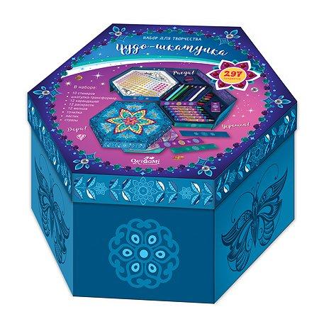 Набор для творчества ORIGAMI Шкатулка мозаика карандаши мелки Чудо шкатулка 05636