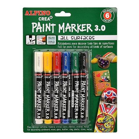 Фломастеры ALPINO Paint Marker 6цветов AR000166