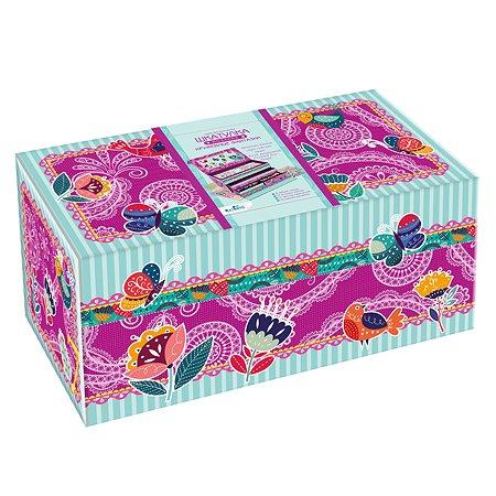 Набор для творчества ORIGAMI Шкатулка мозаика карандаши мелки Кружевные фантазии 05637