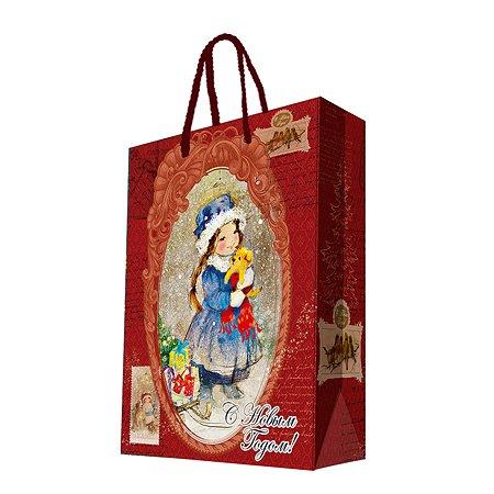Пакет бумажный Magic Time Девочка-Снегурка