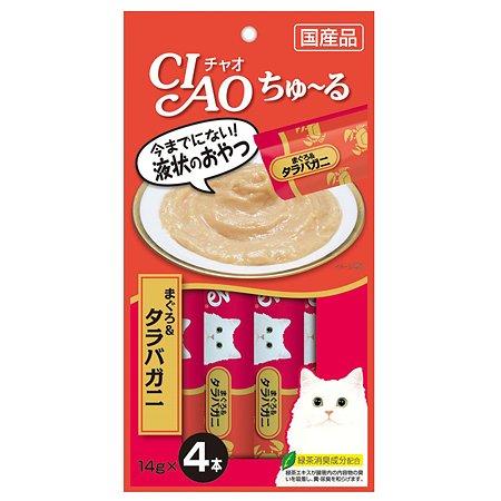Лакомство для кошек INABA Ciao королевский краб-желтоперый тунец соус 56г