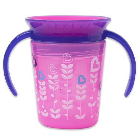 Чашка-непроливайка Munchkin Птички Розовая 177 мл