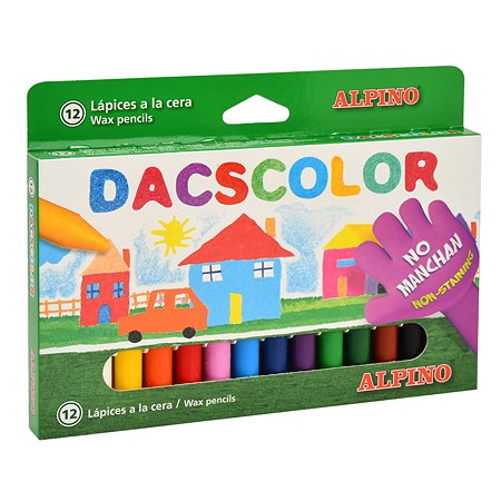 Карандаши восковые ALPINO Dacscolor 12цветов DC050290