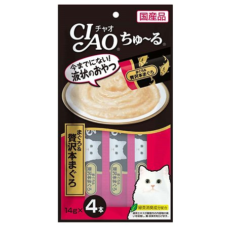 Лакомство для кошек INABA Ciao мраморная вырезка тунца Хон Магуро соус 56г