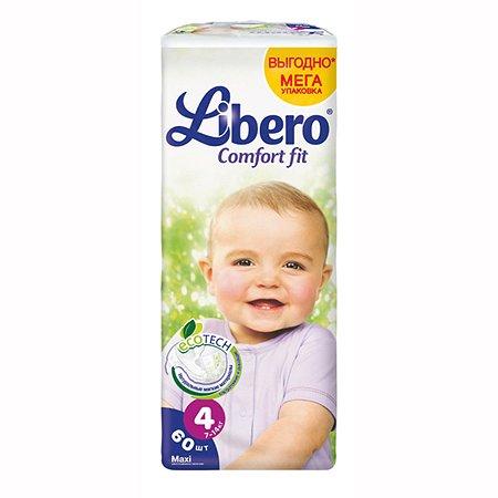 Подгузники Libero Comfort Fit Мега упаковка Maxi 7-14кг 60шт