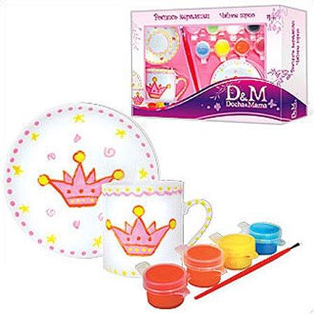 Набор керамический с красками Делай с мамой Чайное Трио