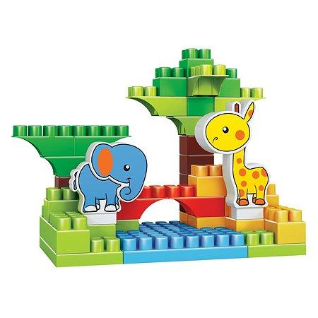 Конструктор Bauer Зооблокс Жирафик и слоненок 584
