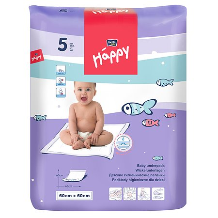 Пеленки Bella baby Happy 60*60см 5шт