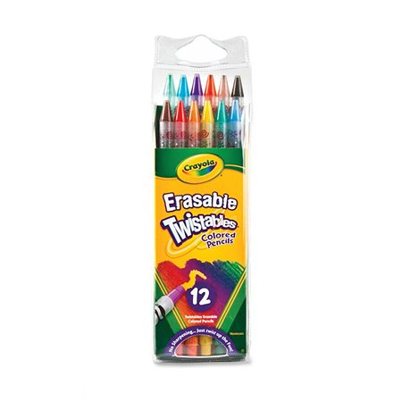 Цветные карандаши Crayola 12 шт выкручивающиеся