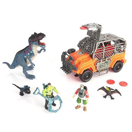 Набор Chap Mei Охота на Тиранозавра джип 5 фигур