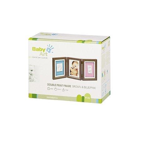 Рамочка BabyArt тройная (шоколад)