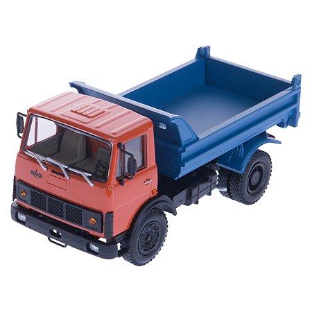 Машина Наш автопром МАЗ-5551 1985-93 оранжево-голубой 1:43