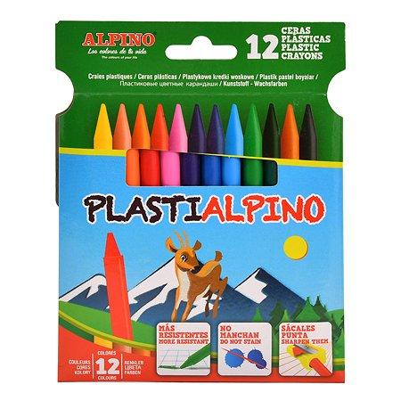 Карандаши цветные ALPINO Plastialpino 12цветов PA000012