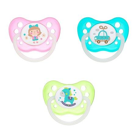 Пустышка Canpol Babies Toys c 0месяецев Зеленая