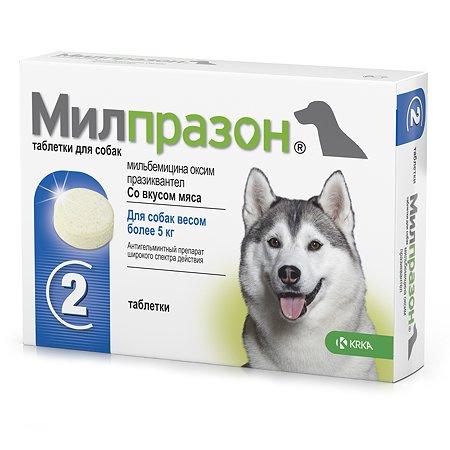 Антигельминтик для собак KRKA Милпразон №2 12.5мг/125мг таблетки