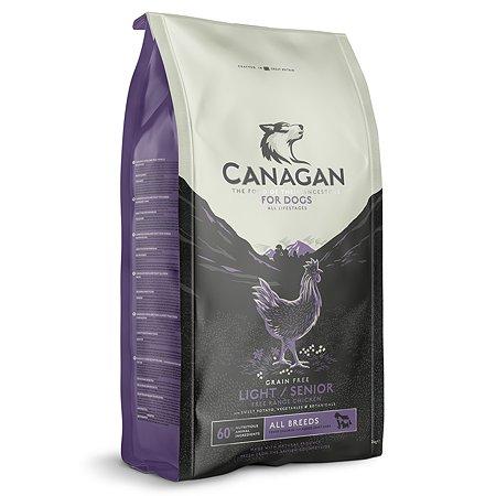 Корм для собак Canagan Light пожилых с избыточным весом цыпленок 2кг