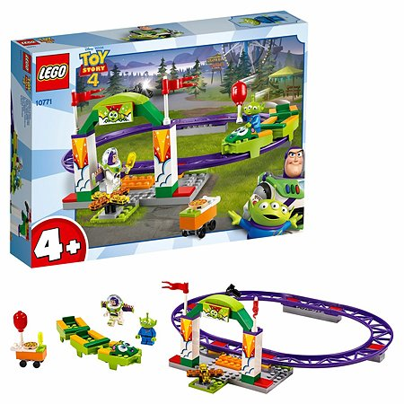 Конструктор LEGO 4+ Аттракцион Паровозик 10771
