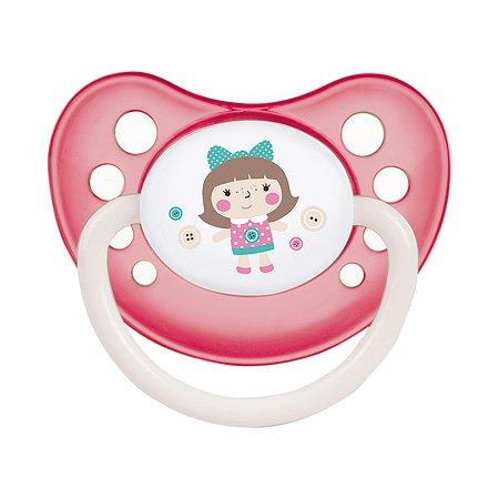 Пустышка Canpol Babies Toys c 6месяцев Розовая