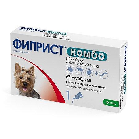 Препарат инсектоакарицидный для собак KRKA Фиприст Комбо 067мл №1 пипетка