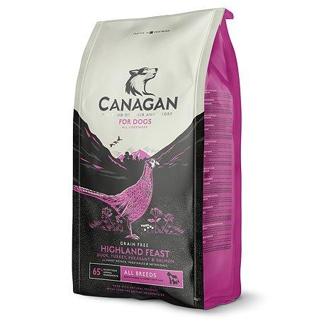 Корм для собак Canagan Highland Feast утка-фазан 2кг