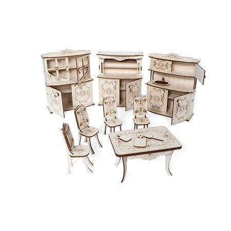 Конструктор 3D Lemmo Набор мебели кухня подвижный 128элементов МЕ-5