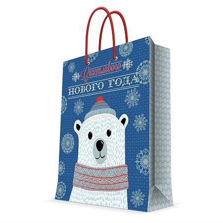 Пакет бумажный Magic Time Девочка с собакой