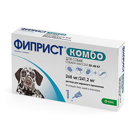Препарат инсектоакарицидный для собак KRKA Фиприст Комбо 2.68мл №1 пипетка