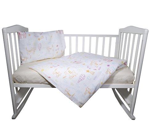 Комплект постельного белья Babyton Кошкин дом 3пр 10011