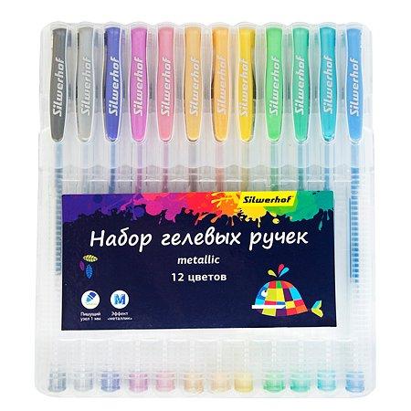 Ручка гелевая Silwerhof Цветландия 12цветов 1180295