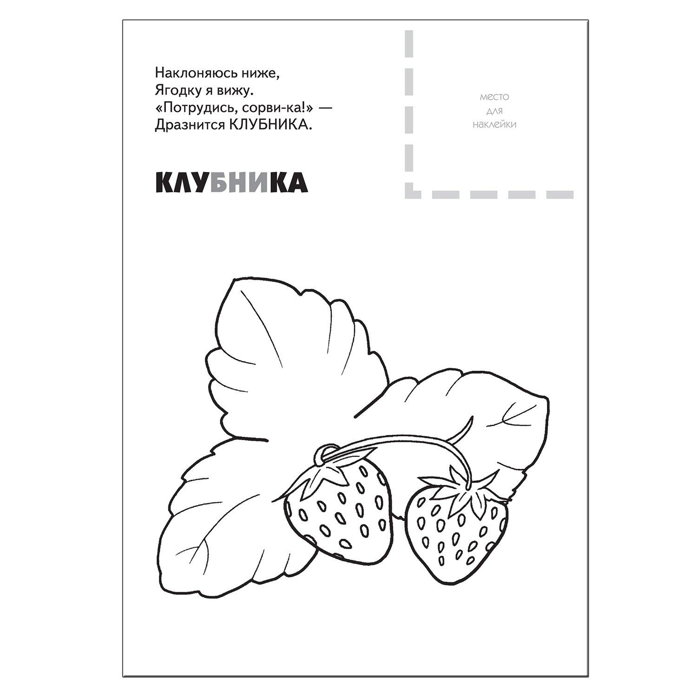 Раскраска с наклейками Мозаика-Синтез Ягоды - купить в ...