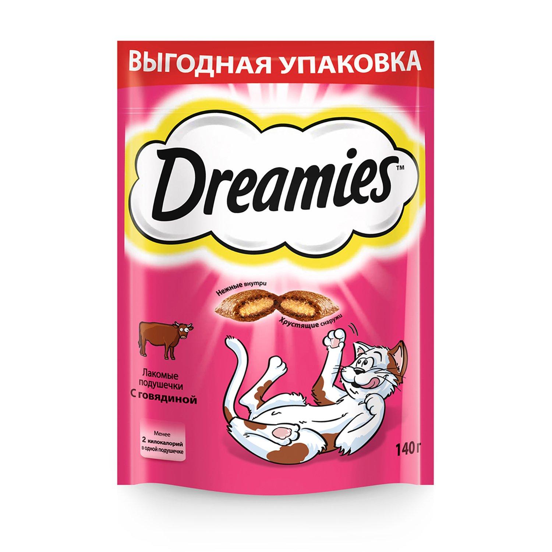 Лакомство для кошек Dreamies подушечки c говядиной 140г