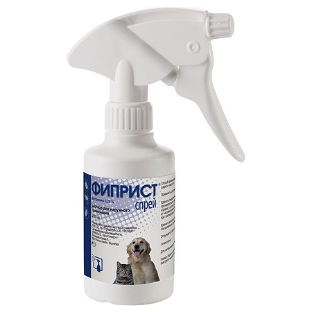 Препарат инсектоакарицидный для собак и кошек KRKA Фиприст 0.25% 250мл спрей