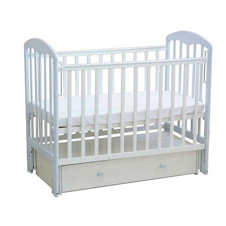 Кровать Фея 328 белый-лазурь