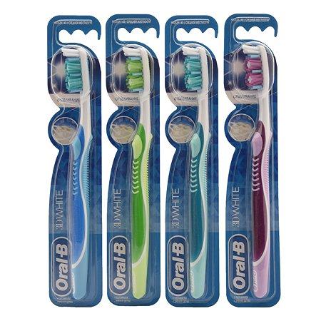 Зубная щетка Oral-B 3D White Luxe отбеливающая 40 средняя в ассортименте