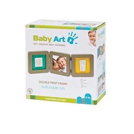 Рамочка BabyArt тройная бирюзовая/желтая