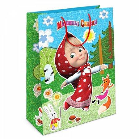 Пакет подарочный Маша и Медведь Лесная сказка Маши 23*18*11