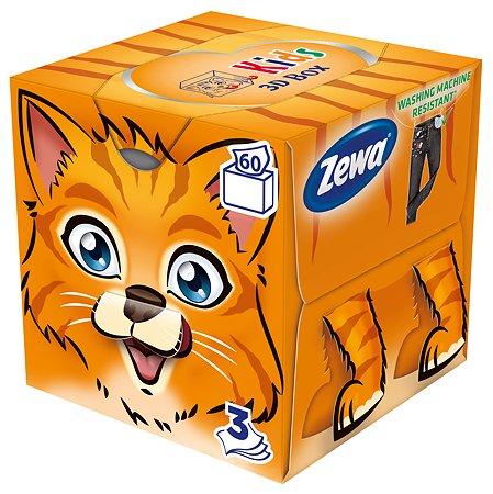 Салфетки бумажные Zewa Kids 3 слоя 60шт 6287
