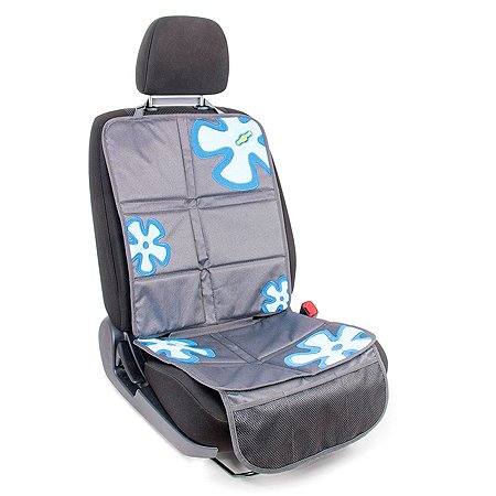 Защитная накидка Смешарики под детское кресло Cеро-синяя