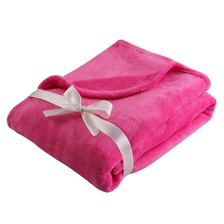 Плед Наша мама розовый (велсофт)